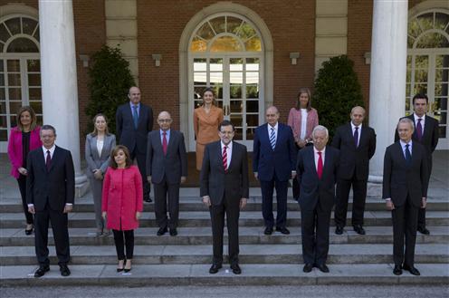 Foto de familia del Consejo Ministros 16/5/2014