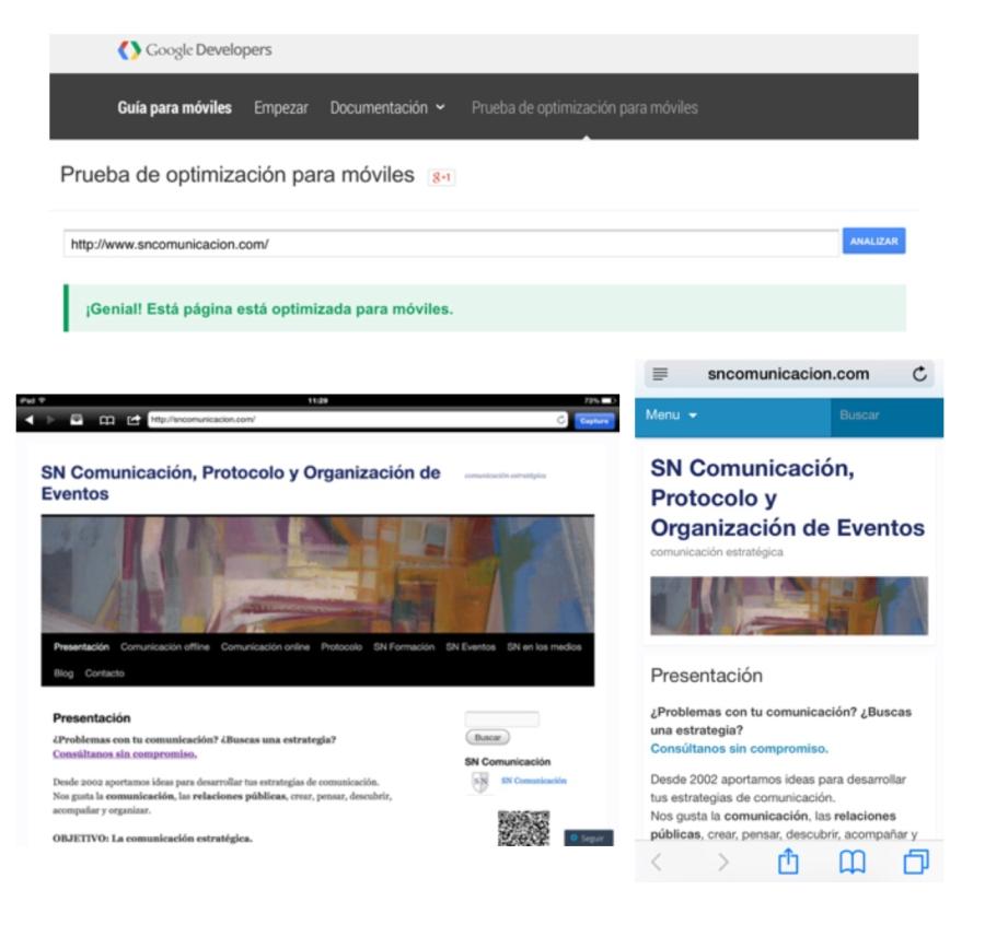 Google adaptación webs móviles