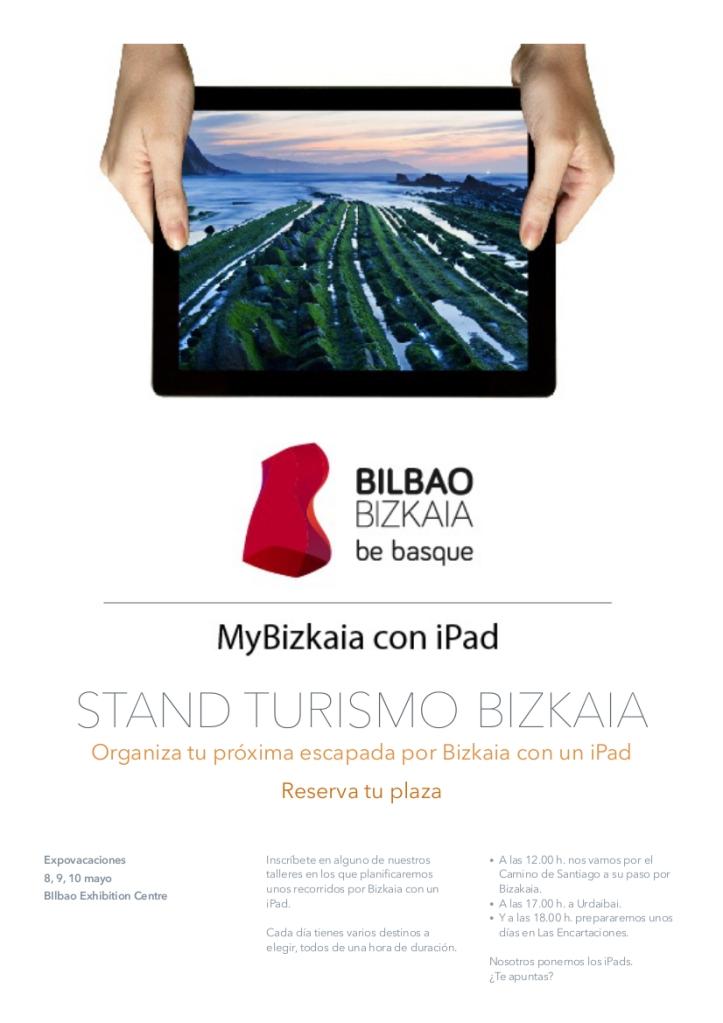 Nota informativa MyBizkaia con iPad